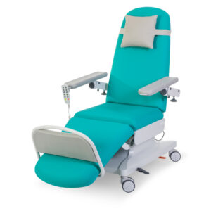 CA1813 Verona therapy chair, 3 motor, fixed height, central locking castors, manual footrest
