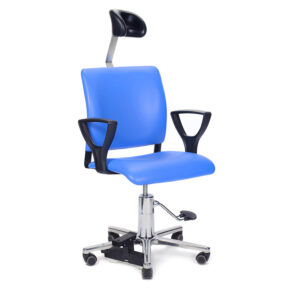 CA1108 Arnhem ENT Ophthalmic chair, with foot pump, castors and floorlock and adjustable headrest