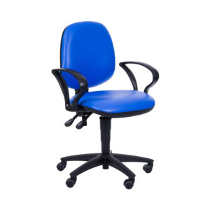 CA3083 Puffin administration chair, medium backrest, fixed armrests
