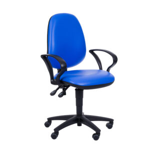 CA3084 Puffin administration chair, high backrest, fixed armrest