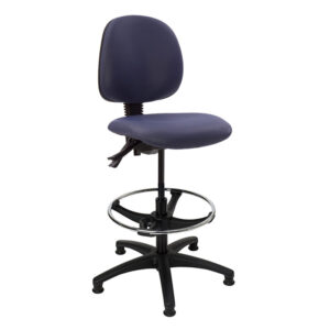 CA3119 Lewis laboratory chair with glide feet, black base and foot ring