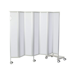 CA3383WH Mobile folding privacy screen, solid panel, 6 sections (1800mm long), White Design