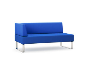 CA3838 Detroit double seat upholstered chair, extra wide with right hand arm
