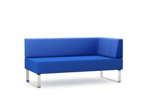 CA3839 Detroit double seat upholstered chair, extra wide with left hand arm