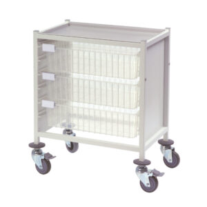 CA42033D Multi-Store procedure trolley, Single width, low height with 3 deep trays