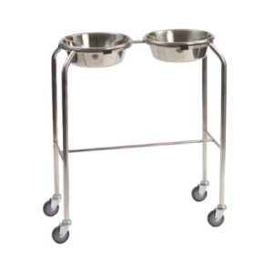 CA3753 Bowl stand, stainless steel, double (excludes bowls)