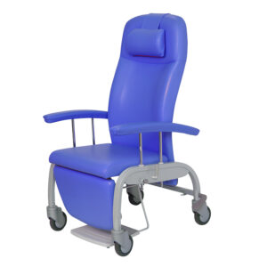 BE2025 Tucson reclining relax chair, mobile, with 4 large castors and central locking