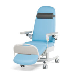 CA1803 Verona therapy chair, 3 motor, fixed height, individually locking castors, manual footrest