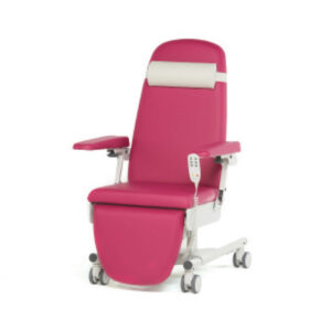 BE1260 Ferrara treatment chair, 3 motor, fixed height, upholstered arms, individually locking castors