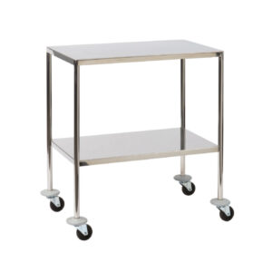 CA4172 Flush-welded stainless steel dressing/instrument trolley 910 x 610mm