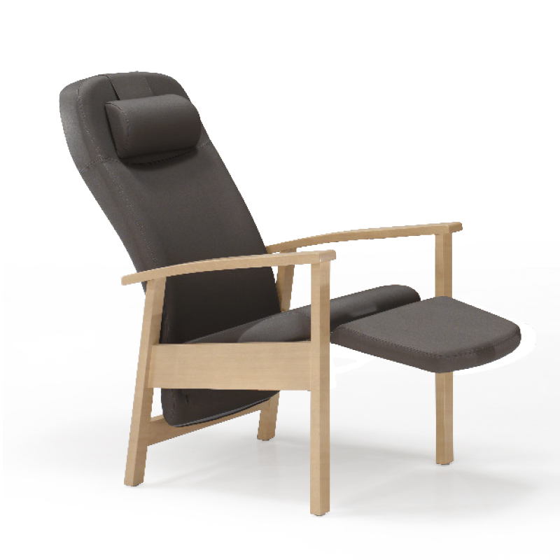 Seattle Wooden Reclining Relax Chair High Comfort Patient Recliners
