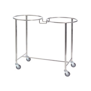 CA4733 Soiled linen trolley, stainless steel, double