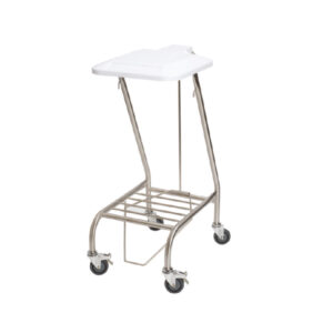 CA4741 Soiled linen trolley, stainless steel with lid, single