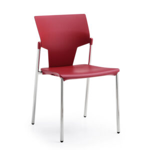 CA3076 Gola reception chair, plastic back and seat without armrests