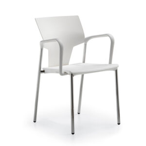 CA3077 Gola reception chair, plastic back and seat with armrests