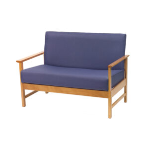 CA3163 Rona low-line 2-seater chair with armrests