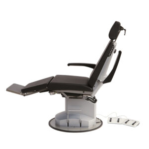 BE1171 Munich deluxe ENT Ophthalmic chair with electric backrest, lockable rotation, retractable castor base