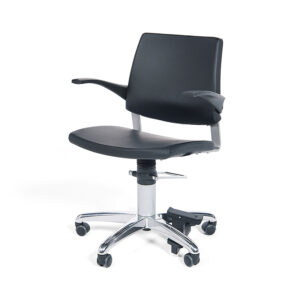 BE1130 Oslo ENT Ophthalmic patient chair, fixed backrest, with castors and floorlock