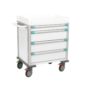 CA4064 Clini-cart® hospital trolley, low height, 4 drawer