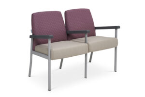 CA2033 Equala 2-seater beam seat, with centre arms, medium back