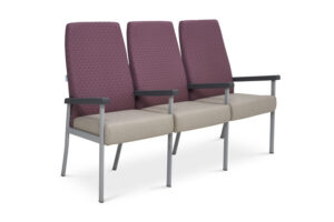 CA2042 Equala 3-seater beam seat, with centre arms, high back