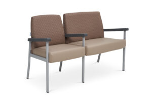 CA2051 Equala 2-seater beam seat with centre arms, medium back, one seat bariatric