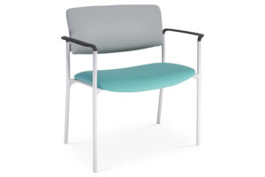 CA2120 Odessa® visitor chair, bariatric, upholstered seat and back, with arms