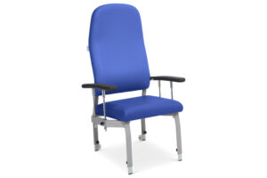 CA3247 Arvada® high-back patient chair with drop arms and housekeeping wheels, height-adjustable