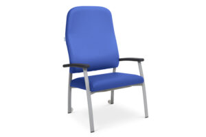 CA3258 Arvada® high-back bariatric patient chair with housekeeping wheels. Weight capacity: 300kg (47 stone)