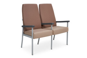 CA2032 Equala 2-seater beam seat, with centre arms, high back