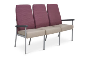 CA2040 Equala 3-seater beam seat, no centre arms, high back
