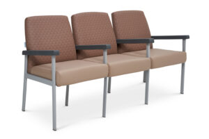 CA2043 Equala 3-seater beam seat, with centre arms, medium back