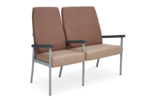 CA2050 Equala 2-seater beam seat with centre arms, high back, one seat bariatric